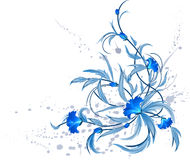 Blue floral decoration. Decorative element for your design. Additional format EPS 8 Royalty Free Stock Photography