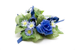 Blue floral decoration with loop Royalty Free Stock Image