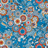 Blue floral decorative background Stock Photography