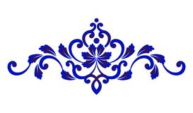 Blue floral decorative Royalty Free Stock Images