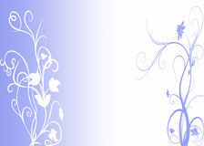 Blue floral design. Abstract blue background with beautiful floral design Royalty Free Stock Photo