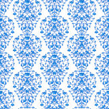 Blue floral elegant border in damask retro style Royalty Free Stock Photography