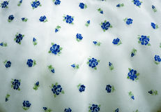 Blue floral fabric Stock Images