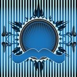 Blue floral frame Stock Image