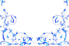 Blue floral frame. Royalty Free Stock Photos