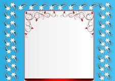 Blue floral frame Stock Images