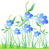 Blue floral garden Stock Photography