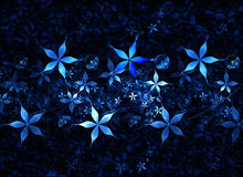 Blue floral grunge background Stock Images