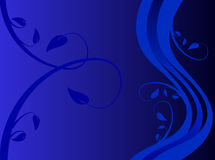 Blue Floral illustration Royalty Free Stock Photos