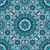 Blue floral kaleidoscope pattern Royalty Free Stock Photography