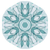 Blue floral mandala Stock Photos