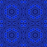 Blue floral medallion wallpaper Royalty Free Stock Images