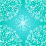 Blue floral ornament background Royalty Free Stock Images