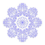 Blue floral ornament in circle. Design vector illustration