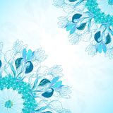 Blue floral ornament mandala background card Royalty Free Stock Photos