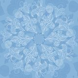 Blue floral ornament background Royalty Free Stock Photo