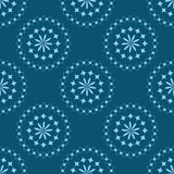 Blue floral ornament. Seamless texture. Pattern flower. Royalty Free Stock Images