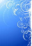 Blue floral ornate Stock Images