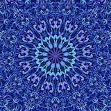 Blue floral ornate mandala background - bohemian graphic. Blue abstract floral ornate mandala background - bohemian vector graphic stock illustration