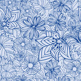 Blue floral pattern Stock Photos