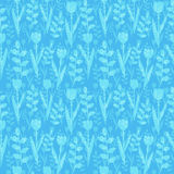 Blue floral pattern Royalty Free Stock Photos