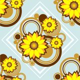 Blue floral pattern. Abstract floral pattern on a blue background Stock Photos
