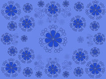 Blue floral pattern. On a blue background Stock Photo