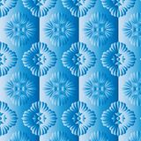 Blue floral pattern. Background design Stock Photo