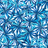 Blue floral pattern Stock Photo