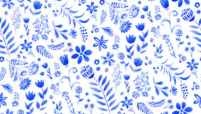 Blue floral pattern Stock Photography