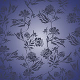 Blue Floral seamless background Royalty Free Stock Images