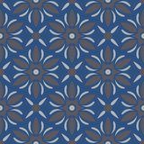 Blue floral seamless background. Design pattern with flower elements. For wallpapers, textile and fabrics Stock Image