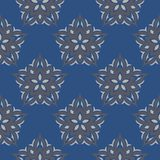Blue floral seamless background. Design pattern with flower elements. For wallpapers, textile and fabrics Stock Photo