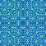 Blue floral seamless. Stock Photos