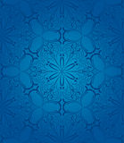 Blue floral seamless patterm Stock Images