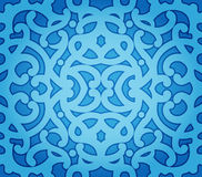 Blue Floral Seamless Pattern stock illustration