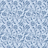 Blue floral seamless pattern Royalty Free Stock Images