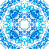 Blue floral seamless pattern in gzhel style Royalty Free Stock Photos