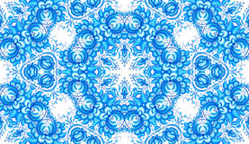 Blue floral seamless pattern in gzhel style Stock Photos