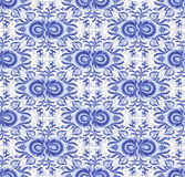 Blue floral seamless pattern in gzhel style Stock Photography
