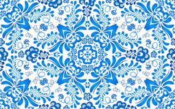 Blue floral seamless pattern in Russian gzhel Stock Images