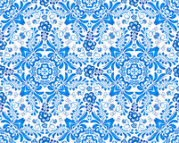 Blue floral seamless pattern in Russian gzhel Royalty Free Stock Photos