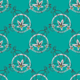 Blue floral seamless pattern Royalty Free Stock Photo