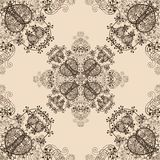 Blue Floral Seamless Pattern on White Stock Photo