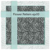 Blue floral texture. Pattern swatches included for illustrator user, pattern swatches included in file, for your convenient use. royalty free illustration