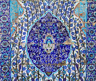 Blue Floral Tile Floor Found in Israel Royalty Free Stock Photos