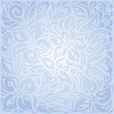 Blue floral vector invitation decorative background design Royalty Free Stock Photo