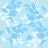 Blue floral vector seamless pattern Royalty Free Stock Images