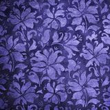 Blue floral wallpaper. Pattern of blue floral wallpaper stock photos