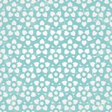 Blue floral wallpaper. Vector seamless background. Stock Images